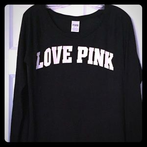 Victoria's Secret PINK Long Sleeved T XS Love Pink